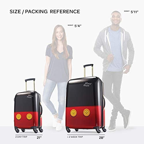 413p6kET6tL. AC  - American Tourister Disney Hardside Luggage with Spinner Wheels, Mickey Mouse Pants, 2-Piece Set (21/28)