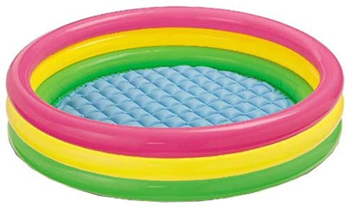 """415IxYqF5BL. AC  - Intex Kiddie Pool - Kid's Summer Sunset Glow Design - 58"""" x 13"""""""