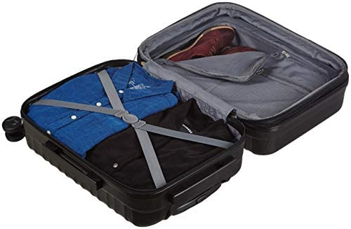 417knpZpXZL. AC  - AmazonBasics Hardside Carry-On Spinner Suitcase Luggage - Expandable with Wheels - 21 Inch, Black