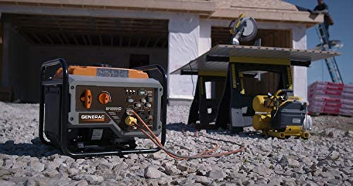 4199pfm 4YL. AC  - Generac GP3500iO Open Frame RV Ready Inverter Generator - 3500 Starting Watts with PowerRush Technology