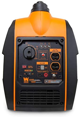 41FRzGeKRiL. AC  - WEN 56225i 2250-Watt Gas Powered Portable Inverter Generator with Fuel Shut-Off, CARB Compliant