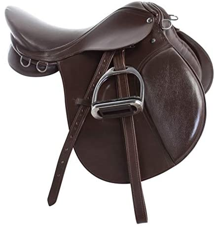 41JzanYHKDL. AC  - Acerugs Premium Eventing Brown Leather Show Jumping English Horse Saddle TACK Set