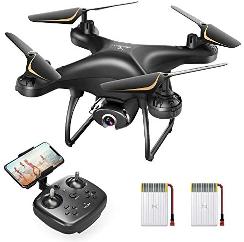 41KCct+osVL. AC  - SNAPTAIN SP650 1080P Drone with Camera for Adults 1080P HD Live Video Camera Drone for Beginners w/Voice Control, Gesture Control, Circle Fly, High-Speed Rotation, Altitude Hold, Headless Mode