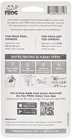 41PC5kba7OL. AC  - Frog Pool & Hot Tub Test Strips - 100 Count (pack of 2 - 50 strips)