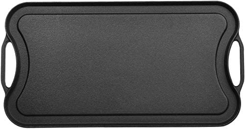 41S4AcMbqlL. AC  - AmazonBasics Pre-Seasoned Cast Iron Reversible Grill/Griddle