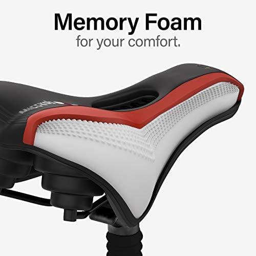41Utc9S0oUL. AC  - Wittkop Bike Seat [for Trekking Bikes] - Bicycle Seat for Men & Women, Waterproof Bike Saddle with Innovative 5-Zone-Concept & Gel Pad, Bicycle Saddle