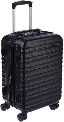 41W5 duvLkL. AC  - AmazonBasics Hardside Carry-On Spinner Suitcase Luggage - Expandable with Wheels - 21 Inch, Black