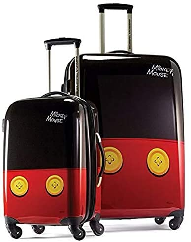 41YSgOkuaML. AC  - American Tourister Disney Hardside Luggage with Spinner Wheels, Mickey Mouse Pants, 2-Piece Set (21/28)