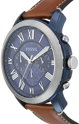 41ZKgL5blhL. AC  - Fossil Men's Grant Stainless Steel Chronograph Quartz Watch