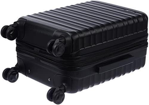 41ZhGnuR0QL. AC  - AmazonBasics Hardside Carry-On Spinner Suitcase Luggage - Expandable with Wheels - 21 Inch, Black