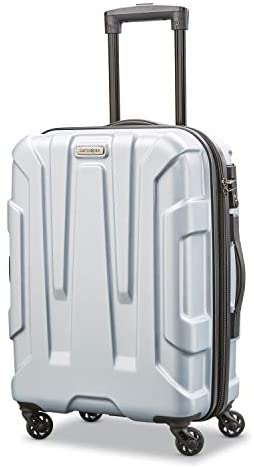 41dyu0ogfLL. AC  - Samsonite Centric Hardside Expandable Luggage with Spinner Wheels, Silver, Carry-On 20-Inch