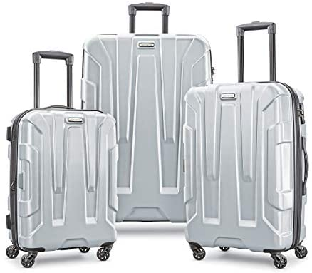 41eBN8M2A6L. AC  - Samsonite Centric Hardside Expandable Luggage with Spinner Wheels, Silver, Carry-On 20-Inch