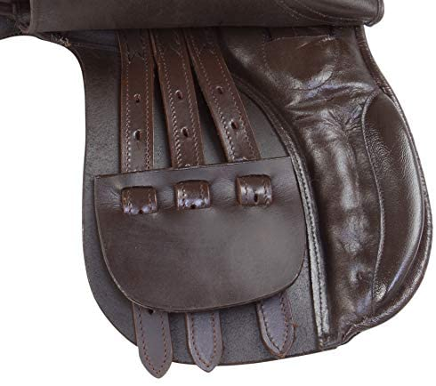 41gy77weOPL. AC  - Acerugs Premium Eventing Brown Leather Show Jumping English Horse Saddle TACK Set