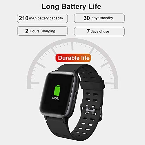 41kG8eOUO7L. AC  - YAMAY Smart Watch for Android and iOS Phone IP68 Waterproof, Fitness Tracker Watch with Heart Rate Monitor Step Sleep Tracker, Smartwatch Compatible with iPhone Samsung, Watch for Men Women