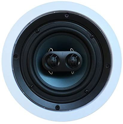 41r0CZ5XI3L. AC  - 652S2C Silver Ticket in-Wall in-Ceiling Speaker with Pivoting Tweeter (2 Channel Stereo 6.5 Inch in-Ceiling) 9.4 inch Overall Size