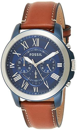 41t7osUvcKL. AC  - Fossil Men's Grant Stainless Steel Chronograph Quartz Watch