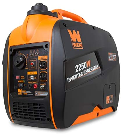 41uUdz6QKHL. AC  - WEN 56225i 2250-Watt Gas Powered Portable Inverter Generator with Fuel Shut-Off, CARB Compliant