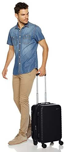 41vFWvbTsTL. AC  - AmazonBasics Hardside Carry-On Spinner Suitcase Luggage - Expandable with Wheels - 21 Inch, Black