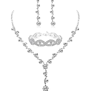 4e229088 796c 4474 adc6 7b50d9d1a3c8.  CR0,14,750,750 PT0 SX300 V1    - Udalyn Rhinestone Bridesmaid Jewelry Sets for Women Necklace and Earring Set for Wedding with Crystal Bracelet
