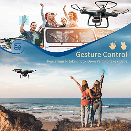 51+vD2YuFFL. AC  - SNAPTAIN SP650 1080P Drone with Camera for Adults 1080P HD Live Video Camera Drone for Beginners w/Voice Control, Gesture Control, Circle Fly, High-Speed Rotation, Altitude Hold, Headless Mode