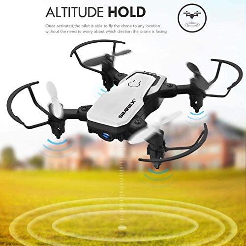51 vvjIXU2L. AC  - SIMREX X300C Mini Drone RC Quadcopter Foldable Altitude Hold Headless RTF 360 Degree FPV Video WiFi 720P HD Camera 6-Axis Gyro 4CH 2.4Ghz Remote Control Super Easy Fly for Training(White)