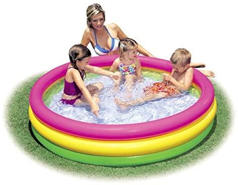 """511p2jm7z9L. AC  - Intex Kiddie Pool - Kid's Summer Sunset Glow Design - 58"""" x 13"""""""