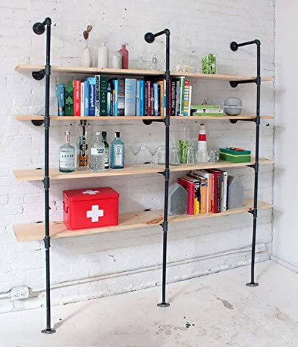 514ATWJtFcL. AC  - Industrial Retro Wall Mount Iron Pipe Shelf,DIY Open Bookshelf,Hung Bracket,Home Improvement Kitchen Shelves,Tool Utility Shelves, Office Shelves,Ceiling Mount Shelf Shelves