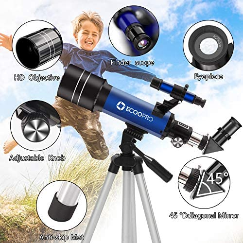 515KKkeNErL. AC  - Telescope for Kids Beginners Adults, 70mm Astronomy Refractor Telescope with Adjustable Tripod - Perfect Telescope Gift for Kids