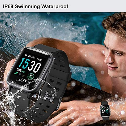516MkRyuvfL. AC  - YAMAY Smart Watch for Android and iOS Phone IP68 Waterproof, Fitness Tracker Watch with Heart Rate Monitor Step Sleep Tracker, Smartwatch Compatible with iPhone Samsung, Watch for Men Women