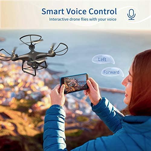 517wbvroZeL. AC  - SNAPTAIN SP650 1080P Drone with Camera for Adults 1080P HD Live Video Camera Drone for Beginners w/Voice Control, Gesture Control, Circle Fly, High-Speed Rotation, Altitude Hold, Headless Mode