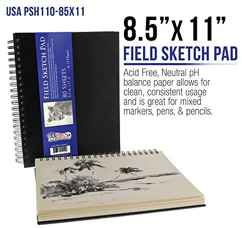 519uERcMUlL. AC  - US Art Supply 20 Piece Artist Drawing, Sketch and Painting - Paper and Brush Accessory Pack