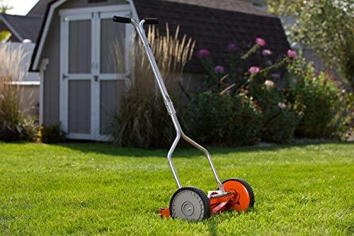 51BN2TKTe1L. AC  - American Lawn Mower Company 1204-14 14-Inch 4-Blade Push Reel Lawn Mower, Red