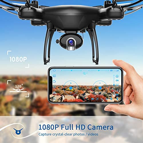 51Gn4ECoq7L. AC  - SNAPTAIN SP650 1080P Drone with Camera for Adults 1080P HD Live Video Camera Drone for Beginners w/Voice Control, Gesture Control, Circle Fly, High-Speed Rotation, Altitude Hold, Headless Mode