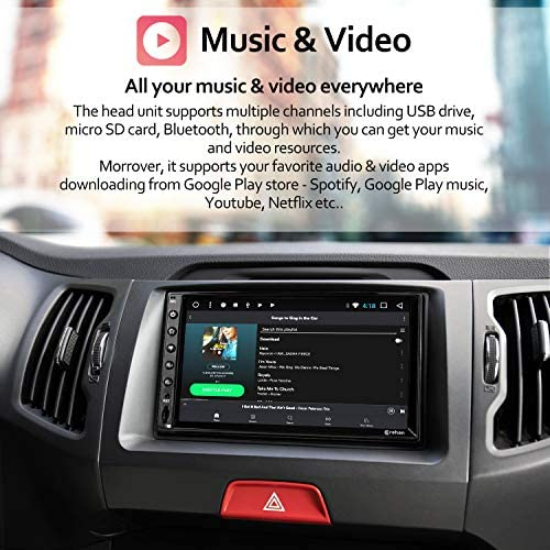 51INZRHLCBL. AC  - Double Din Android Car Stereo - Corehan Android 10 with 7 inch Touch Screen in Dash Car Stereo Video Multimedia Player with Bluetooth WiFi GPS Radio Navigation System