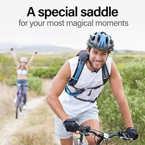 51SZRFb5bNL. AC  - Wittkop Bike Seat [for Trekking Bikes] - Bicycle Seat for Men & Women, Waterproof Bike Saddle with Innovative 5-Zone-Concept & Gel Pad, Bicycle Saddle