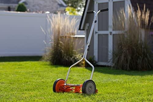 51SgXp45KHL. AC  - American Lawn Mower Company 1204-14 14-Inch 4-Blade Push Reel Lawn Mower, Red