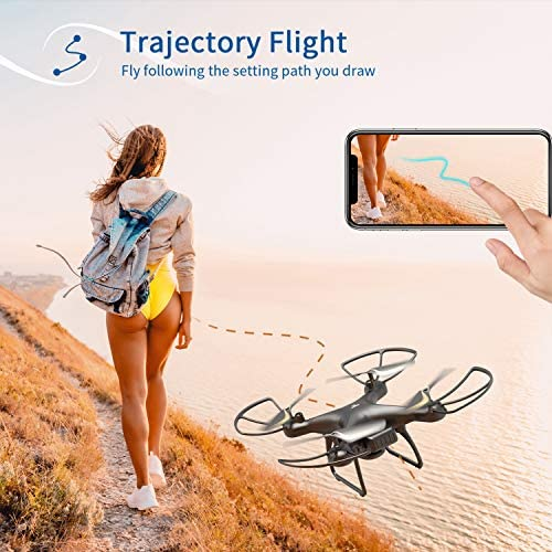51TMqAQl8iL. AC  - SNAPTAIN SP650 1080P Drone with Camera for Adults 1080P HD Live Video Camera Drone for Beginners w/Voice Control, Gesture Control, Circle Fly, High-Speed Rotation, Altitude Hold, Headless Mode