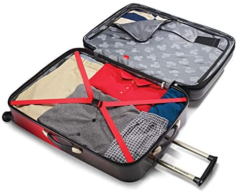 51V2M+zRIOL. AC  - American Tourister Disney Hardside Luggage with Spinner Wheels, Mickey Mouse Pants, 2-Piece Set (21/28)