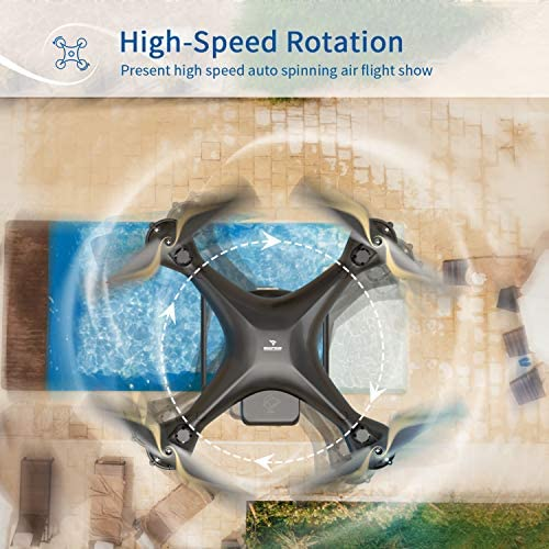 51V390ZQ5UL. AC  - SNAPTAIN SP650 1080P Drone with Camera for Adults 1080P HD Live Video Camera Drone for Beginners w/Voice Control, Gesture Control, Circle Fly, High-Speed Rotation, Altitude Hold, Headless Mode