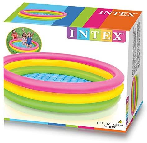 """51ZHKI0Pd9L. AC  - Intex Kiddie Pool - Kid's Summer Sunset Glow Design - 58"""" x 13"""""""