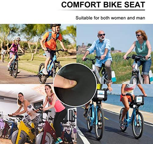 51c6uQdiWpL. AC  - OXYVAN Bike Seat Most Comfortable Universal Replacement Bicycle Seat Cushion Dual Shock Absorbing Ball Wide Bicycle Saddle for Men Women