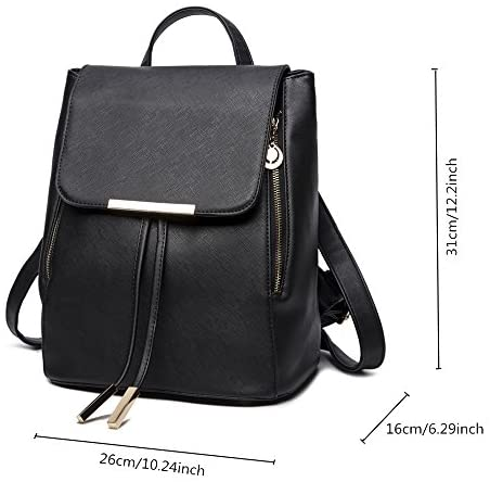 51dLrodcugL. AC  - B&E LIFE Fashion Shoulder Bag Rucksack PU Leather Women Girls Ladies Backpack Travel bag