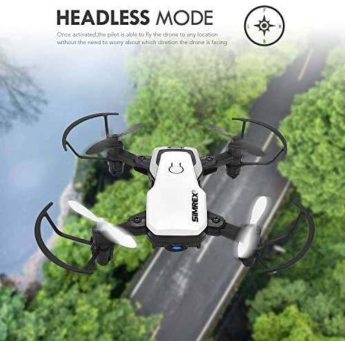 51iNXOMxUoL. AC  - SIMREX X300C Mini Drone RC Quadcopter Foldable Altitude Hold Headless RTF 360 Degree FPV Video WiFi 720P HD Camera 6-Axis Gyro 4CH 2.4Ghz Remote Control Super Easy Fly for Training(White)