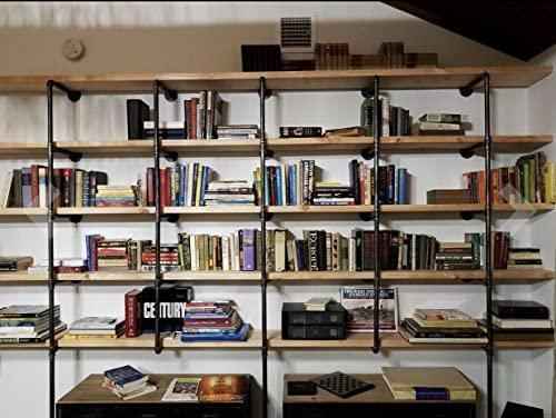 51mWZsNoVpL. AC  - Industrial Retro Wall Mount Iron Pipe Shelf,DIY Open Bookshelf,Hung Bracket,Home Improvement Kitchen Shelves,Tool Utility Shelves, Office Shelves,Ceiling Mount Shelf Shelves