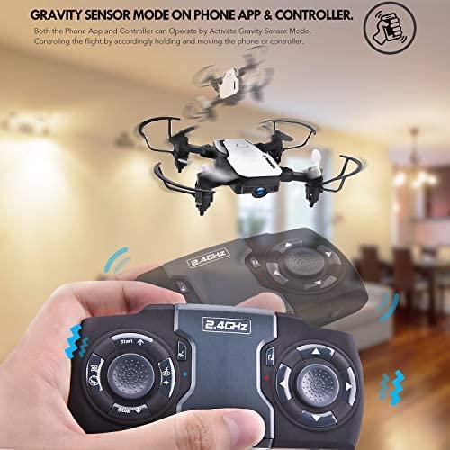 51pPMK4oZ4L. AC  - SIMREX X300C Mini Drone RC Quadcopter Foldable Altitude Hold Headless RTF 360 Degree FPV Video WiFi 720P HD Camera 6-Axis Gyro 4CH 2.4Ghz Remote Control Super Easy Fly for Training(White)