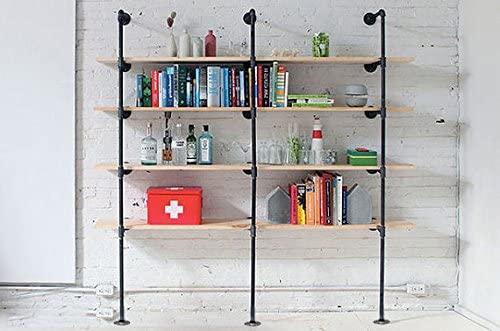51uX+MzJmUL. AC  - Industrial Retro Wall Mount Iron Pipe Shelf,DIY Open Bookshelf,Hung Bracket,Home Improvement Kitchen Shelves,Tool Utility Shelves, Office Shelves,Ceiling Mount Shelf Shelves