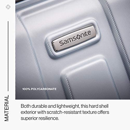 51z F+llXbL. AC  - Samsonite Centric Hardside Expandable Luggage with Spinner Wheels, Silver, Carry-On 20-Inch