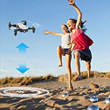 5ccbed06 4adf 478d a529 b493608be45a.  CR0,0,300,300 PT0 SX220 V1    - SIMREX X300C Mini Drone RC Quadcopter Foldable Altitude Hold Headless RTF 360 Degree FPV Video WiFi 720P HD Camera 6-Axis Gyro 4CH 2.4Ghz Remote Control Super Easy Fly for Training(White)