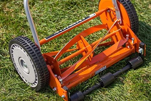61tP+f607GL. AC  - American Lawn Mower Company 1204-14 14-Inch 4-Blade Push Reel Lawn Mower, Red