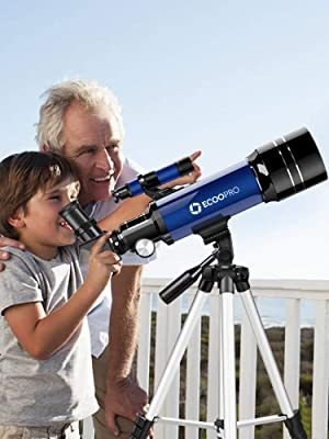 68215ab5 b0c0 495d a178 14f3c5d8b46a.  CR125,0,750,1000 PT0 SX300 V1    - Telescope for Kids Beginners Adults, 70mm Astronomy Refractor Telescope with Adjustable Tripod - Perfect Telescope Gift for Kids